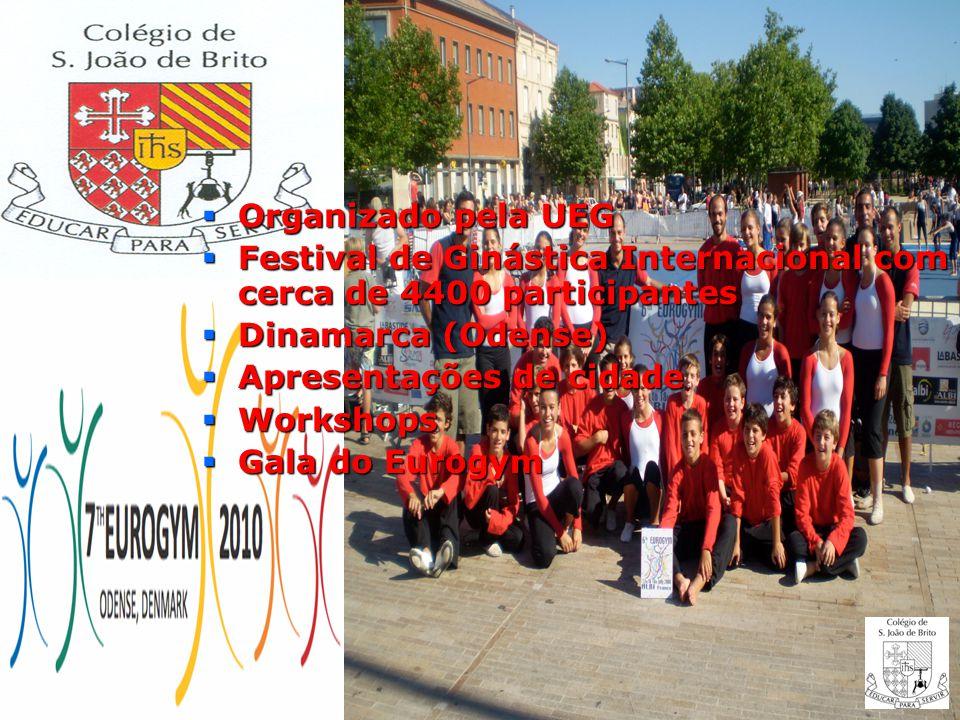 Organizado pela UEG Festival de Ginástica Internacional com cerca de 4400 participantes. Dinamarca (Odense)