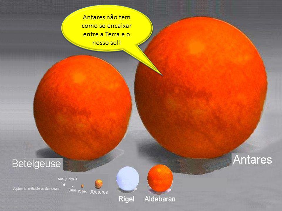 Antares não tem como se encaixar entre a Terra e o nosso sol!