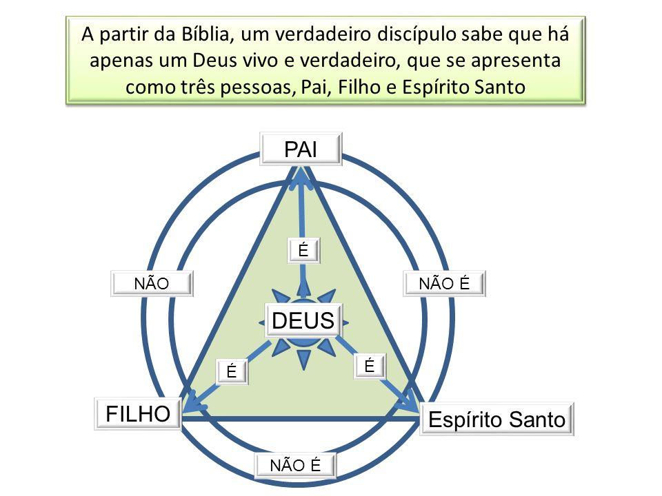 A partir da Bíblia, um verdadeiro discípulo sabe que há apenas um Deus vivo e verdadeiro, que se apresenta como três pessoas, Pai, Filho e Espírito Santo
