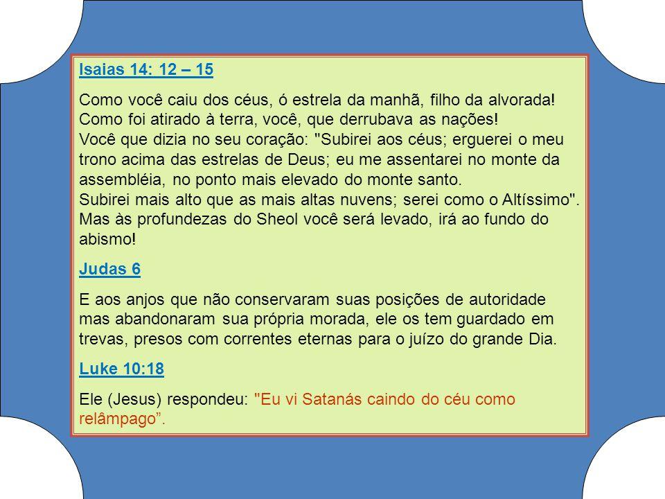 Isaias 14: 12 – 15
