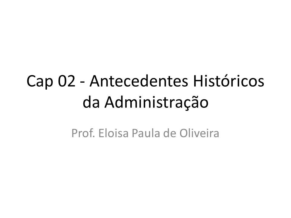 Cap 02 - Antecedentes Históricos da Administração