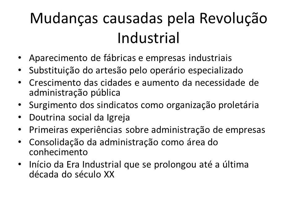 Mudanças causadas pela Revolução Industrial