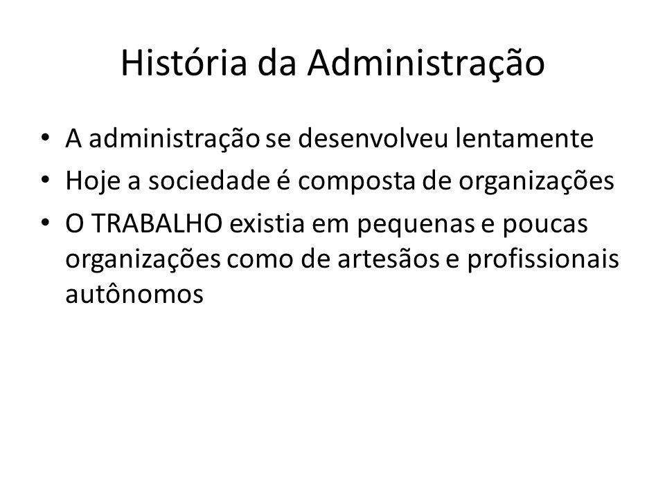História da Administração