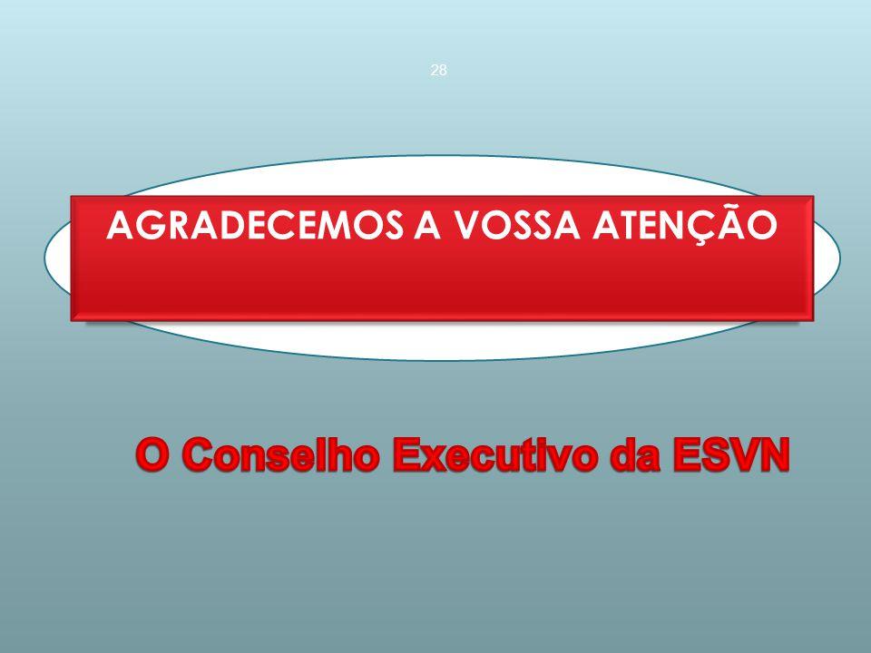 AGRADECEMOS A VOSSA ATENÇÃO O Conselho Executivo da ESVN