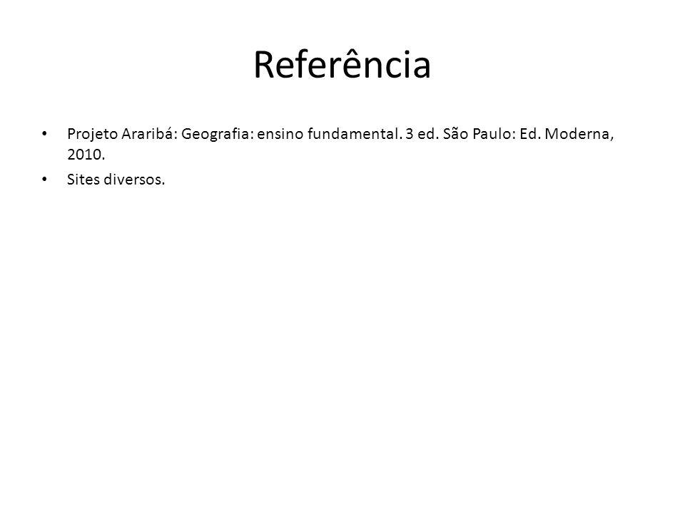 Referência Projeto Araribá: Geografia: ensino fundamental.
