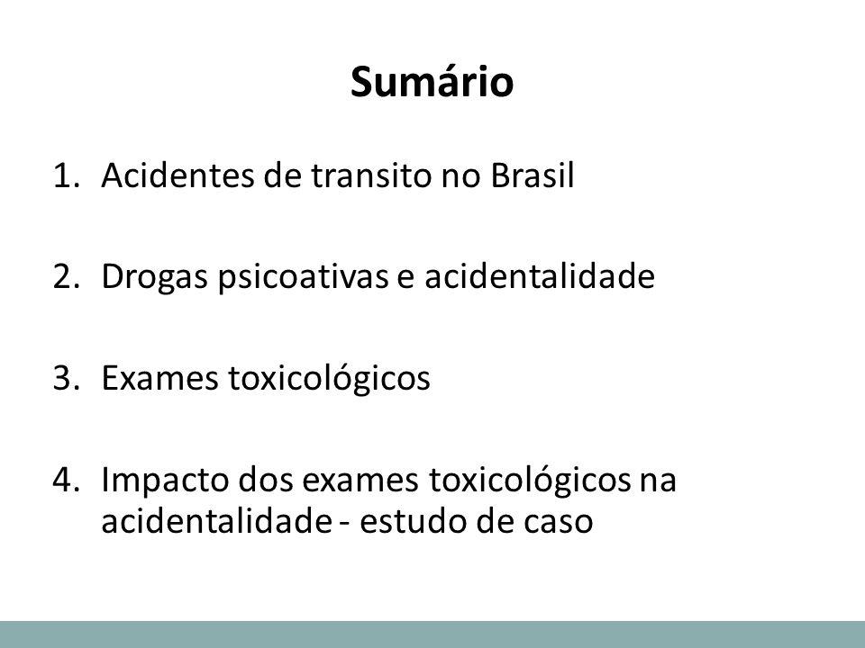 Sumário Acidentes de transito no Brasil