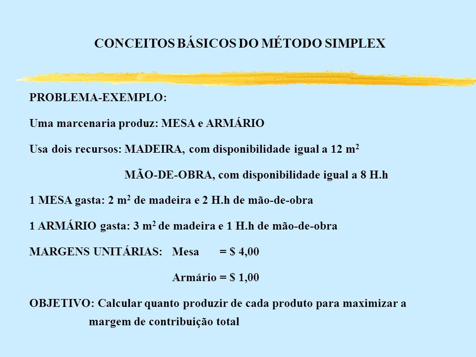 CONCEITOS BÁSICOS DO MÉTODO SIMPLEX