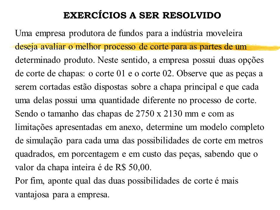 EXERCÍCIOS A SER RESOLVIDO
