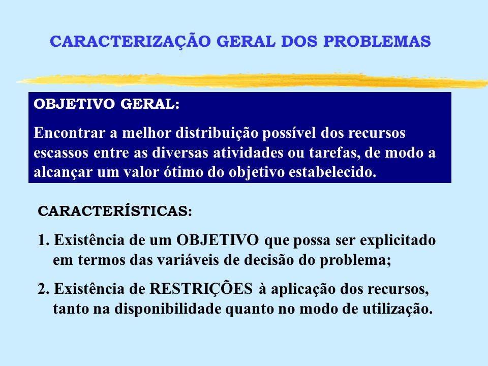 CARACTERIZAÇÃO GERAL DOS PROBLEMAS
