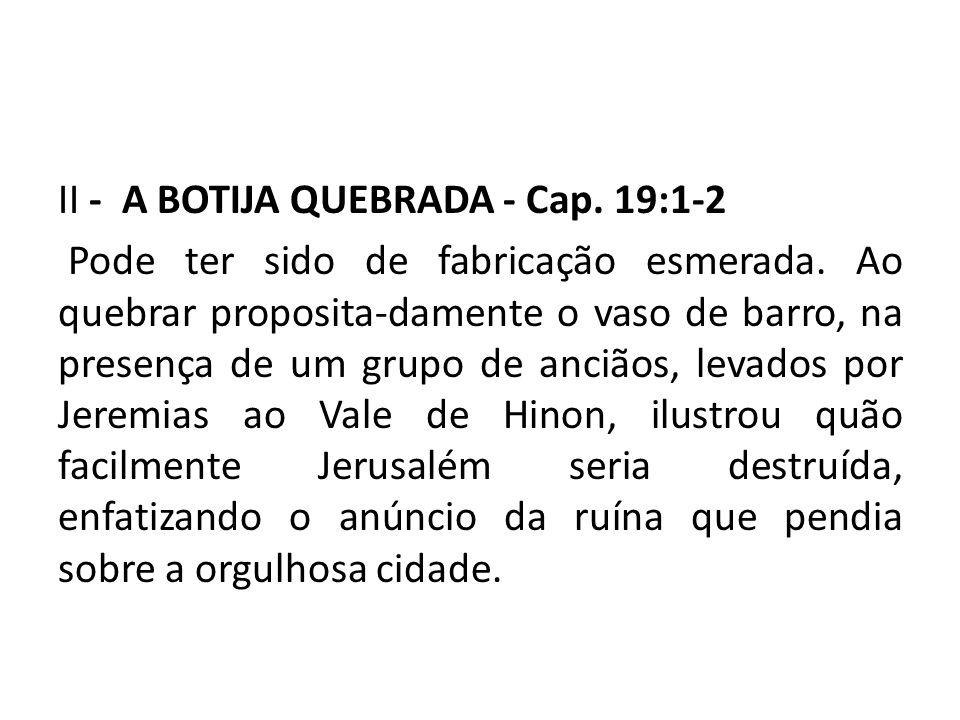 II - A BOTIJA QUEBRADA - Cap