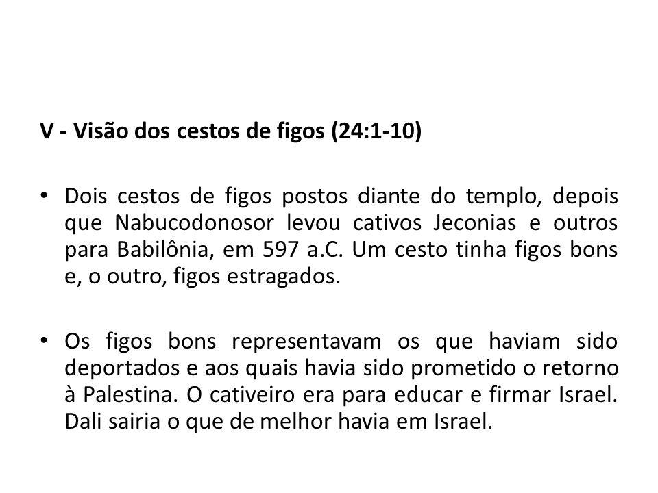 V - Visão dos cestos de figos (24:1-10)