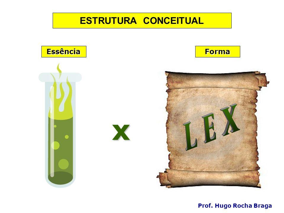 ESTRUTURA CONCEITUAL Essência Forma x Prof. Hugo Rocha Braga