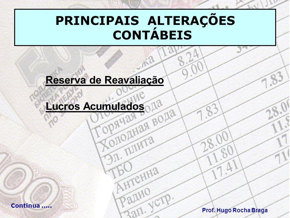 PRINCIPAIS ALTERAÇÕES CONTÁBEIS