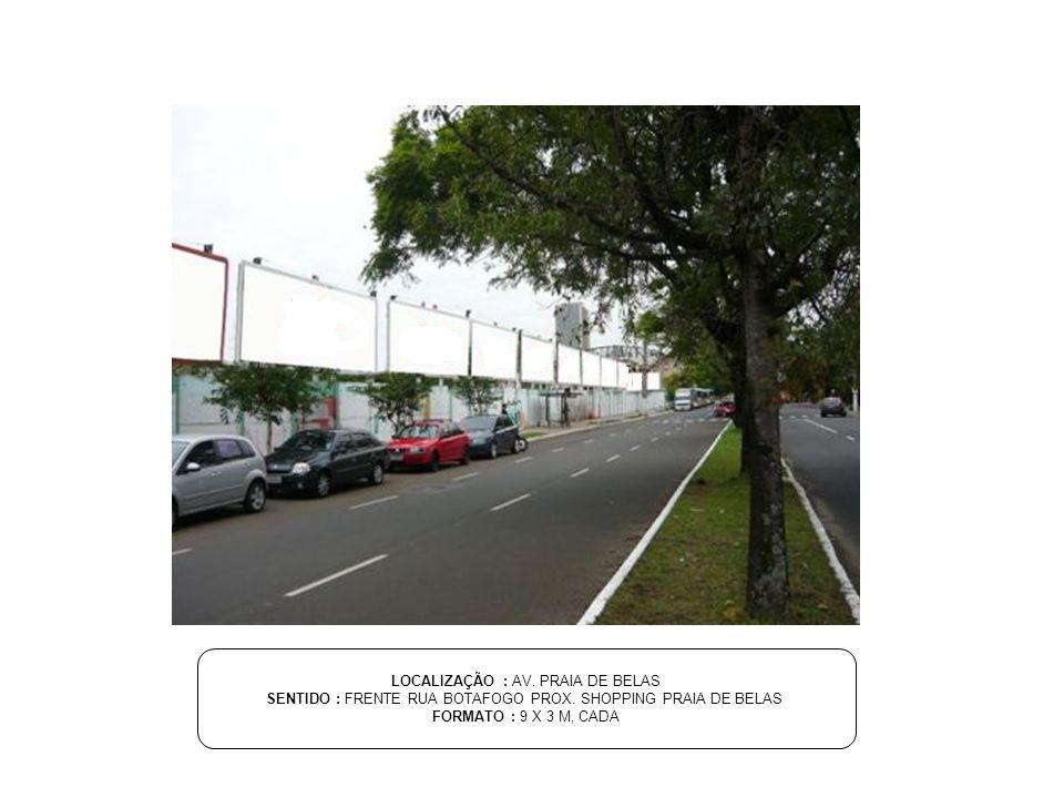 LOCALIZAÇÃO : AV. PRAIA DE BELAS