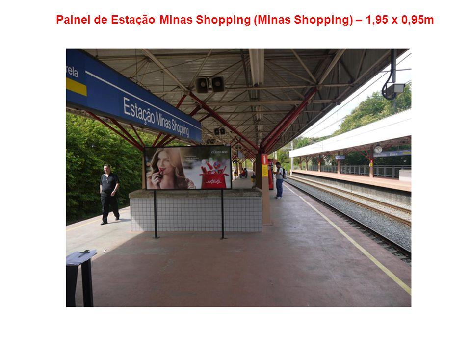 Painel de Estação Minas Shopping (Minas Shopping) – 1,95 x 0,95m