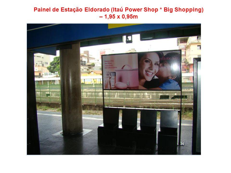 Painel de Estação Eldorado (Itaú Power Shop