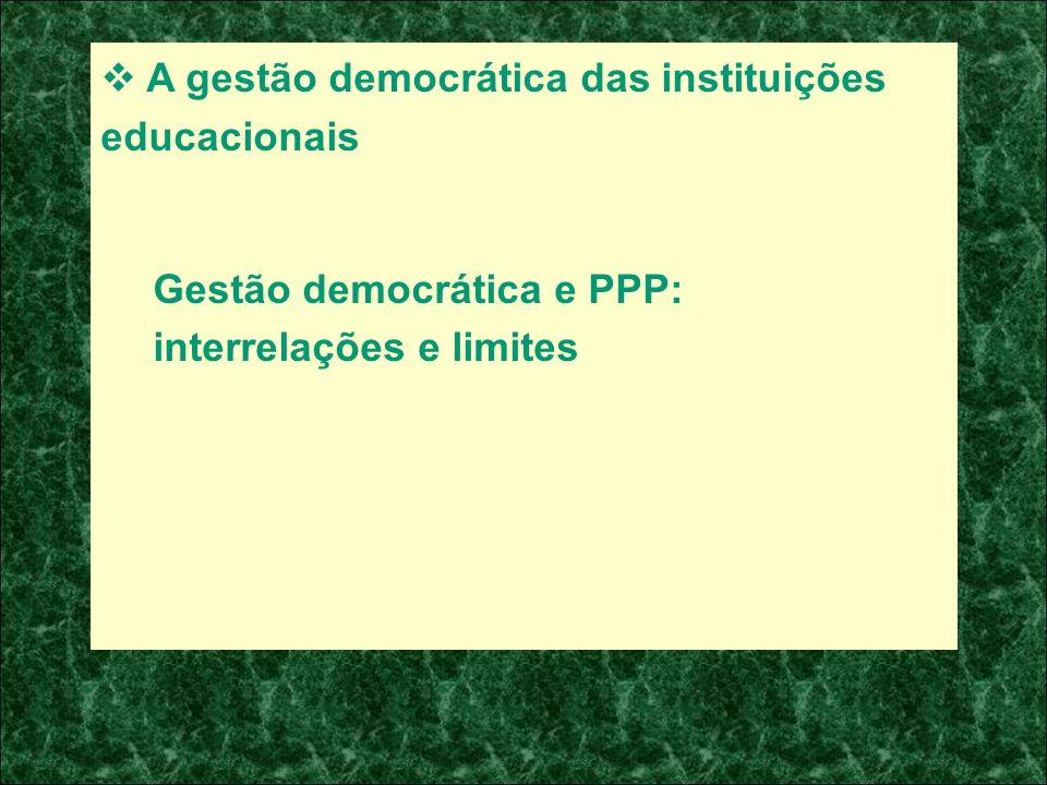 A gestão democrática das instituições educacionais