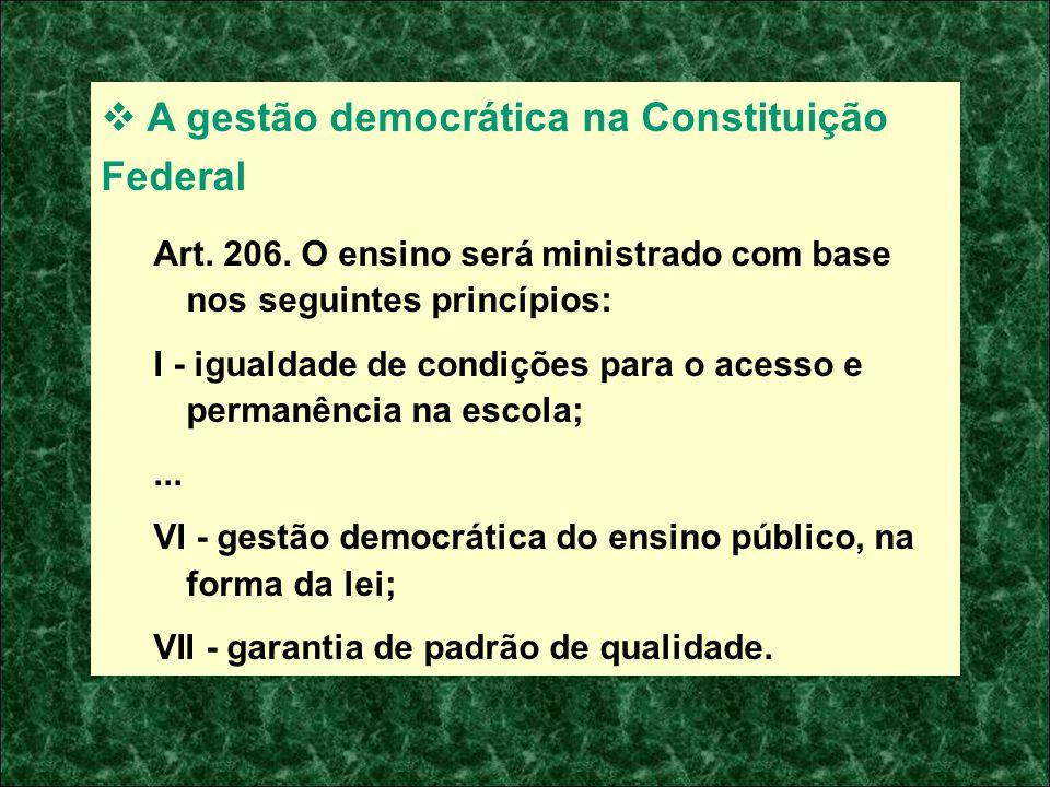 A gestão democrática na Constituição Federal