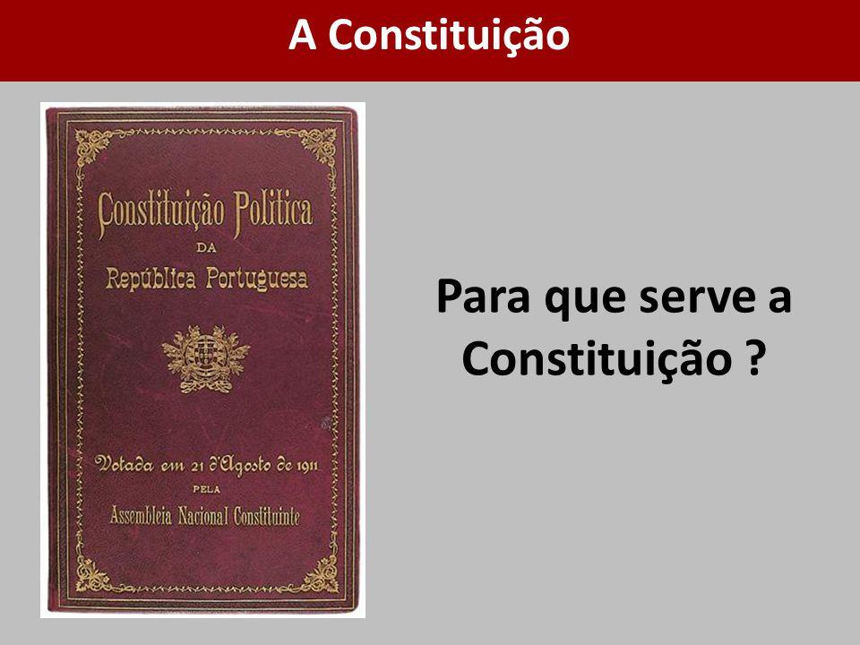 Para que serve a Constituição