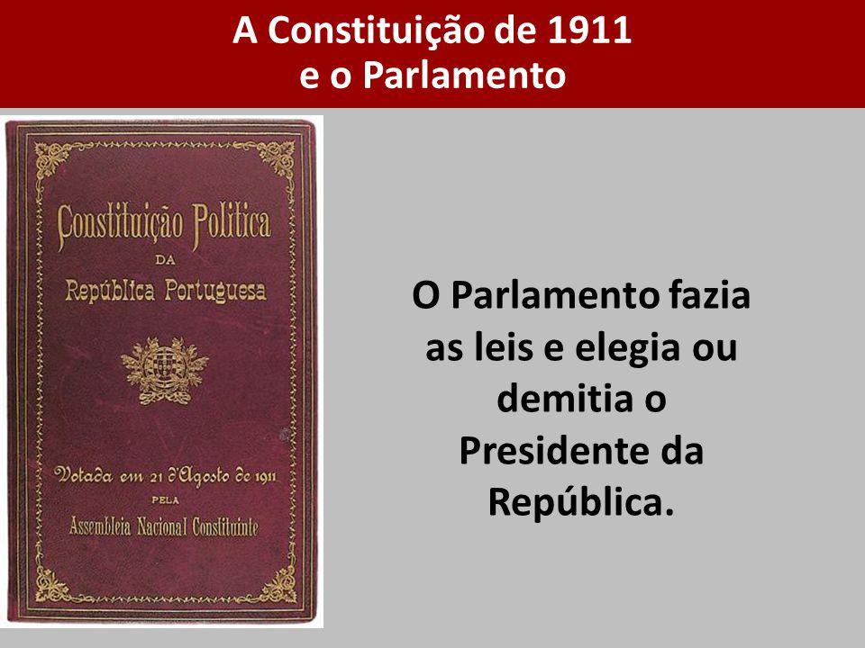 A Constituição de 1911 e o Parlamento