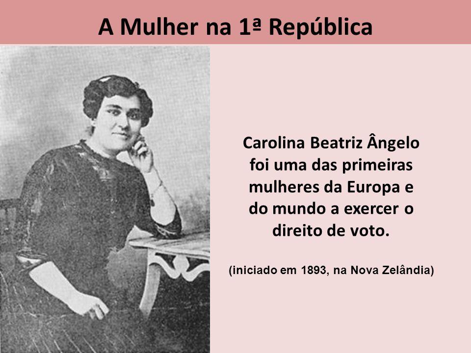 Carolina Beatriz Ângelo (iniciado em 1893, na Nova Zelândia)