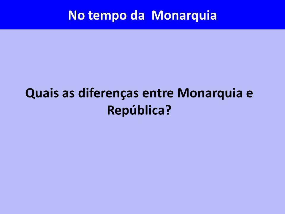 Quais as diferenças entre Monarquia e República