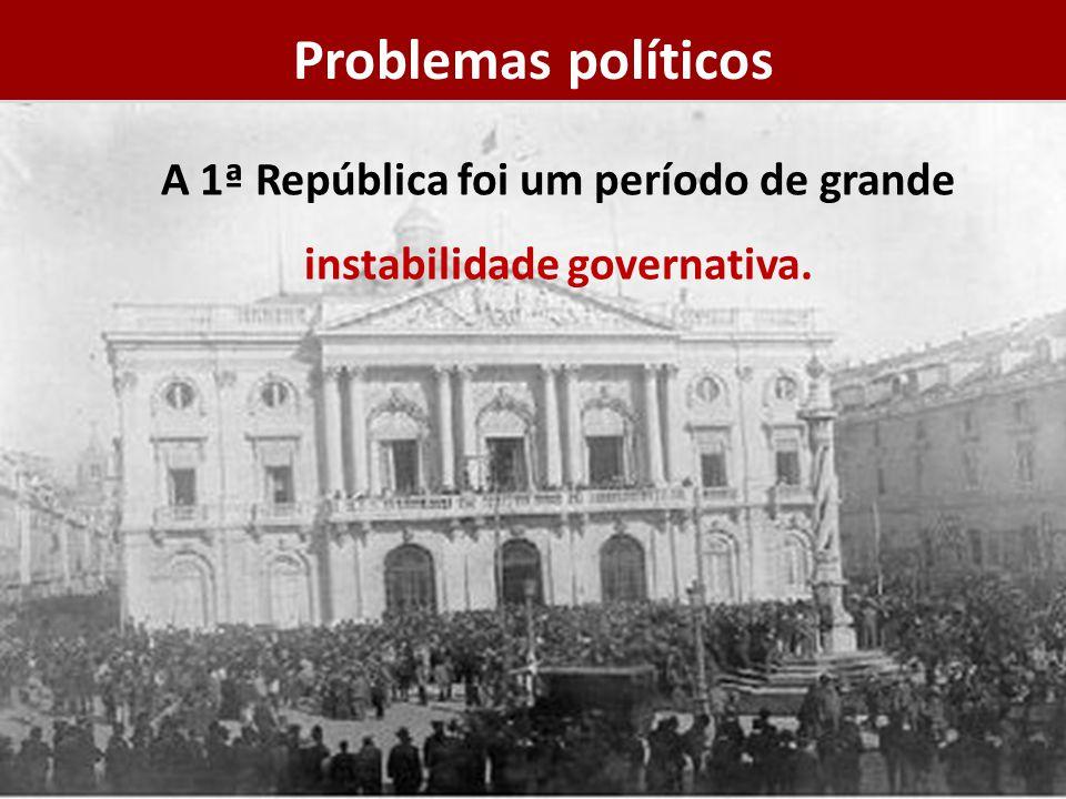 A 1ª República foi um período de grande instabilidade governativa.