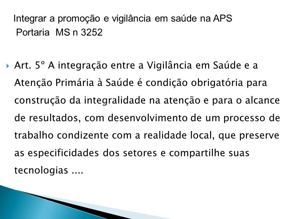 Integrar a promoção e vigilância em saúde na APS