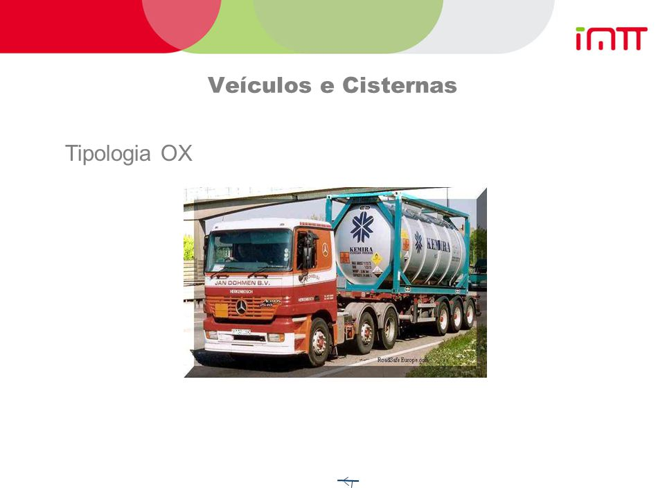 Veículos e Cisternas Tipologia OX