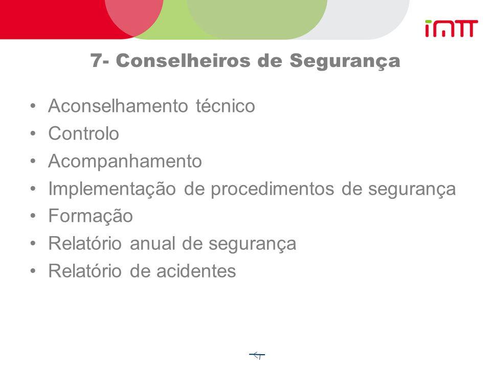 7- Conselheiros de Segurança