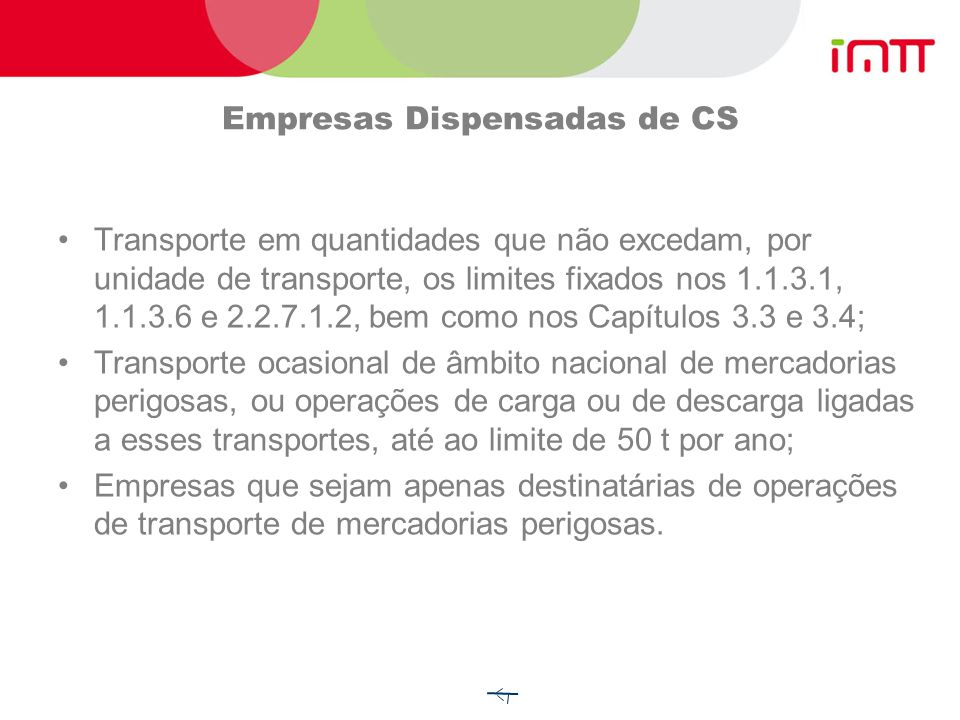 Empresas Dispensadas de CS