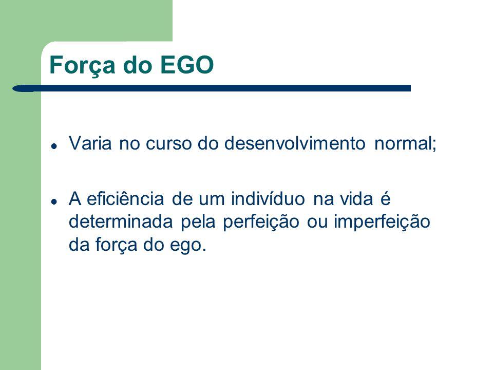 Força do EGO Varia no curso do desenvolvimento normal;