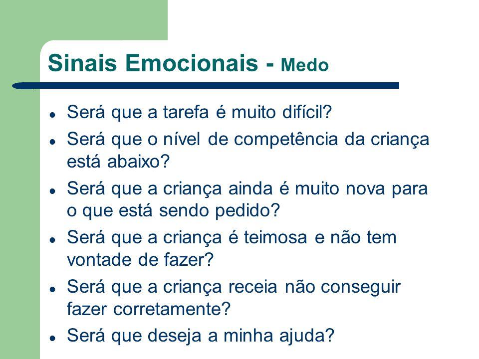 Sinais Emocionais - Medo