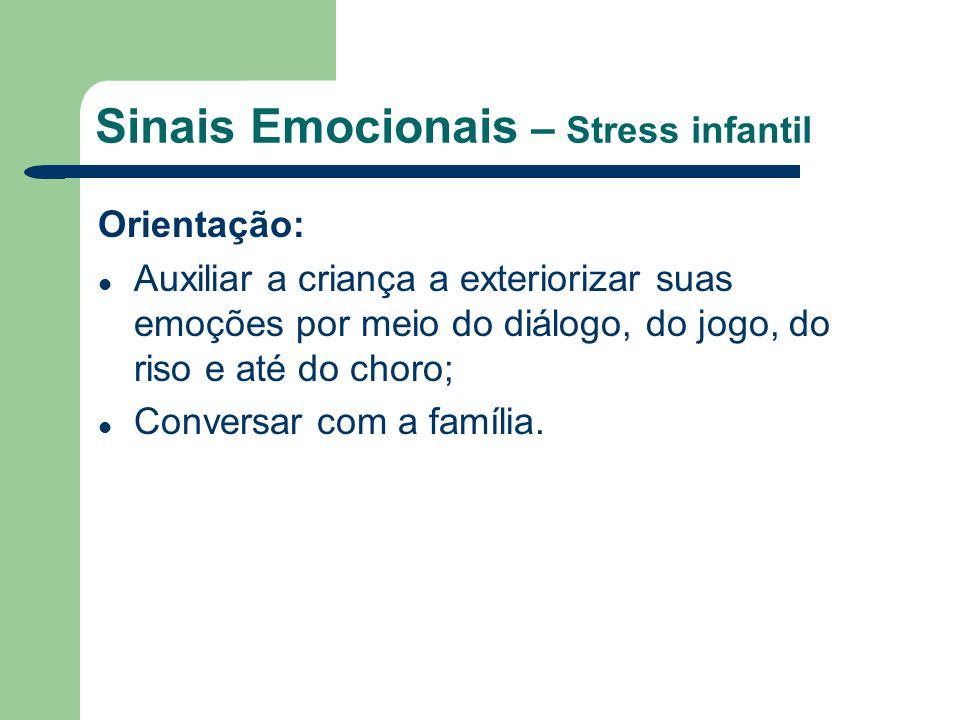 Sinais Emocionais – Stress infantil
