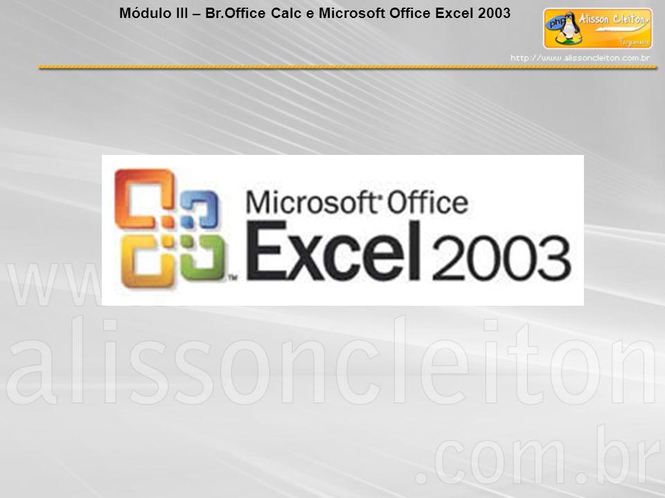 Módulo III – Br.Office Calc e Microsoft Office Excel 2003