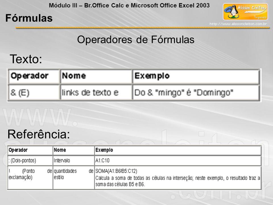 Operadores de Fórmulas