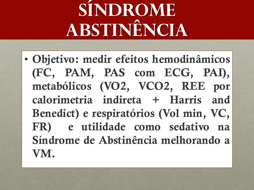 Síndrome abstinência