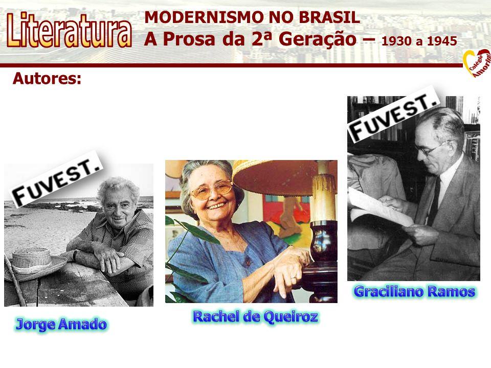Literatura A Prosa da 2ª Geração – 1930 a 1945 MODERNISMO NO BRASIL