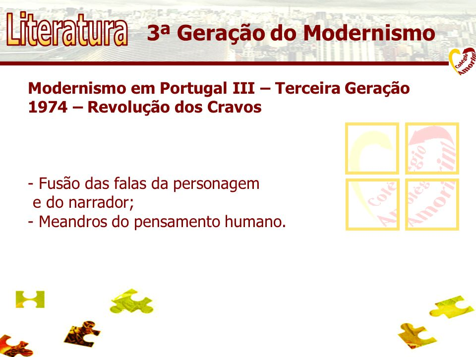 Literatura 3ª Geração do Modernismo