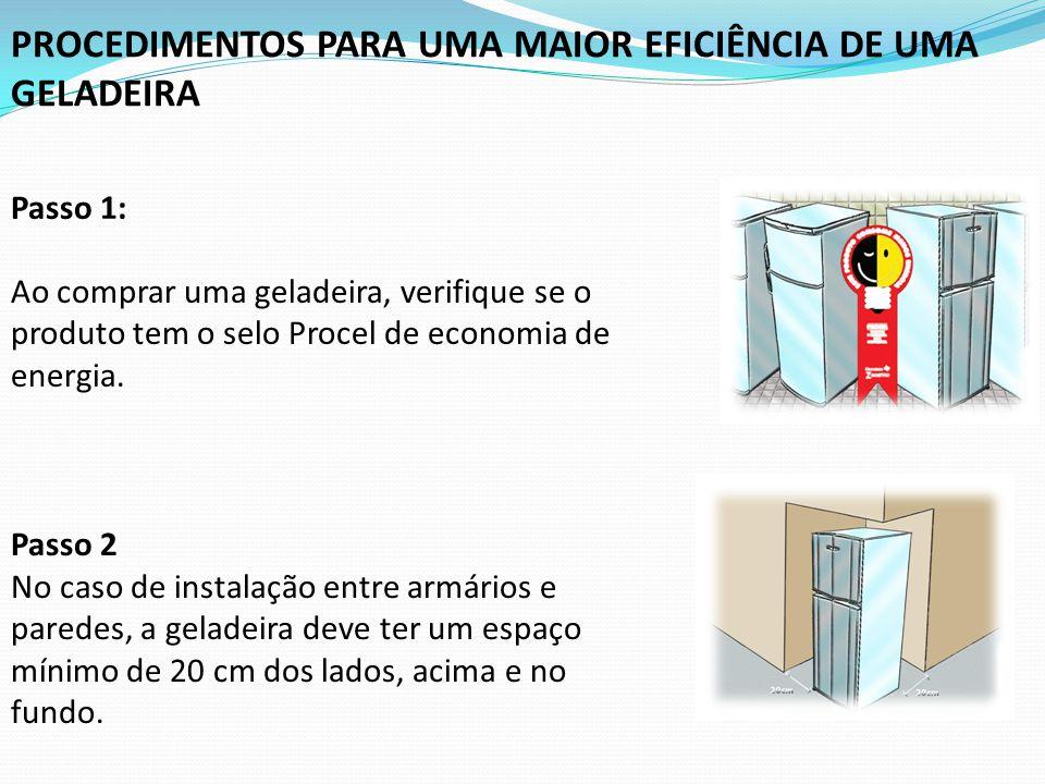 PROCEDIMENTOS PARA UMA MAIOR EFICIÊNCIA DE UMA GELADEIRA