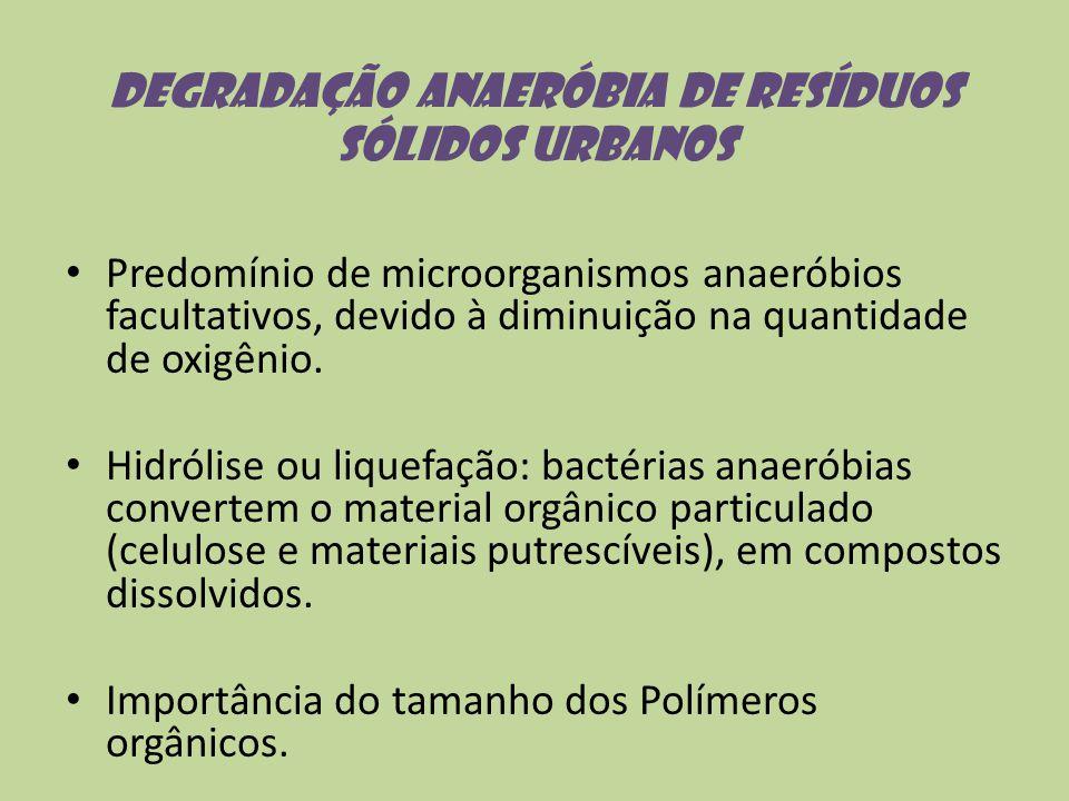 Degradação anaeróbia de resíduos sólidos urbanos