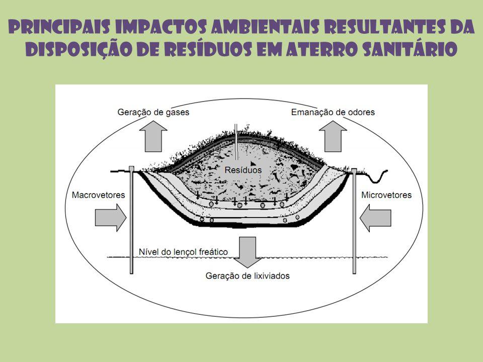 Principais impactos ambientais resultantes da disposição de resíduos em aterro sanitário