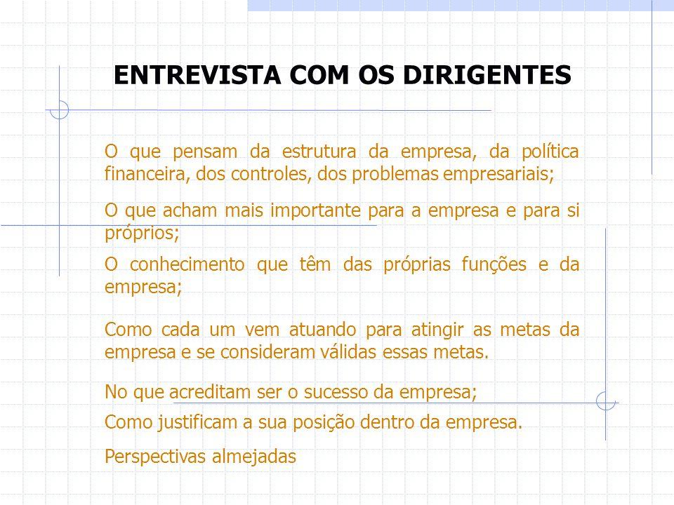 ENTREVISTA COM OS DIRIGENTES