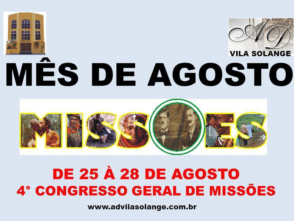 4° CONGRESSO GERAL DE MISSÕES