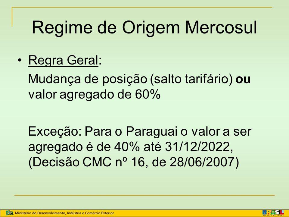 Regime de Origem Mercosul
