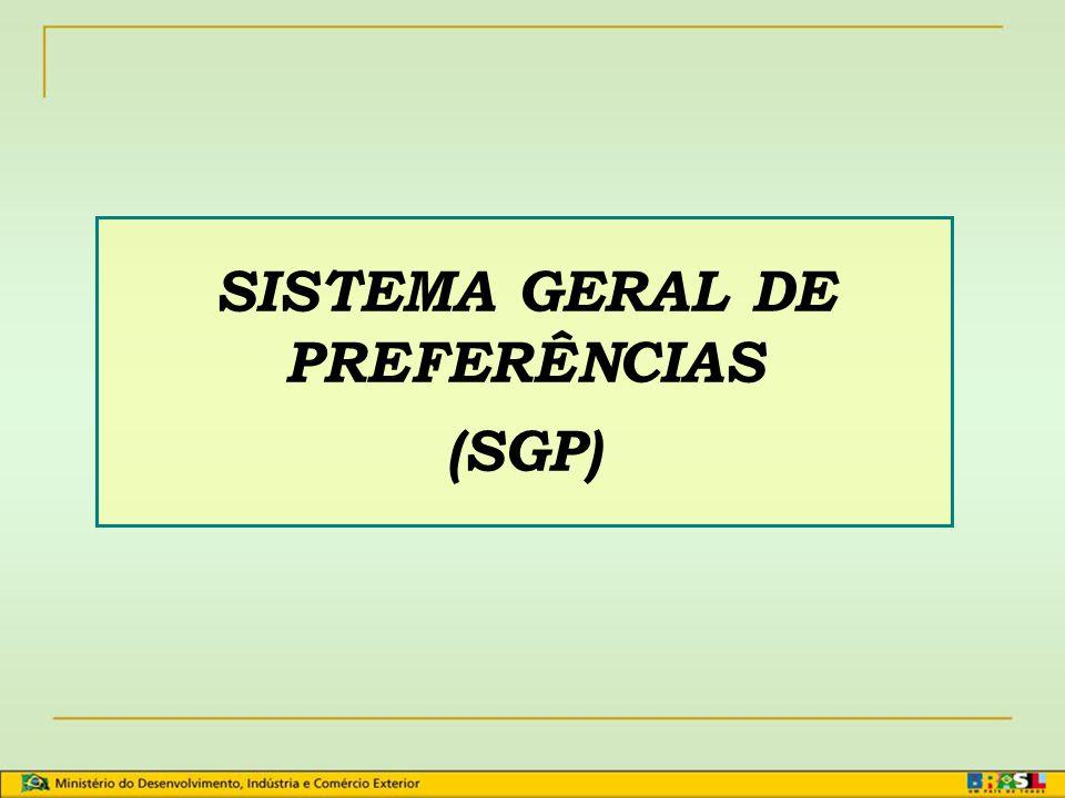 SISTEMA GERAL DE PREFERÊNCIAS