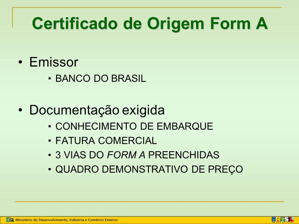 Certificado de Origem Form A