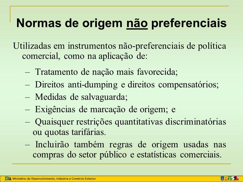 Normas de origem não preferenciais