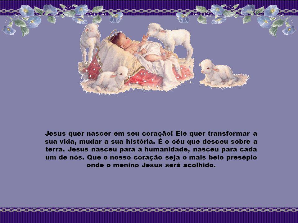 Jesus quer nascer em seu coração
