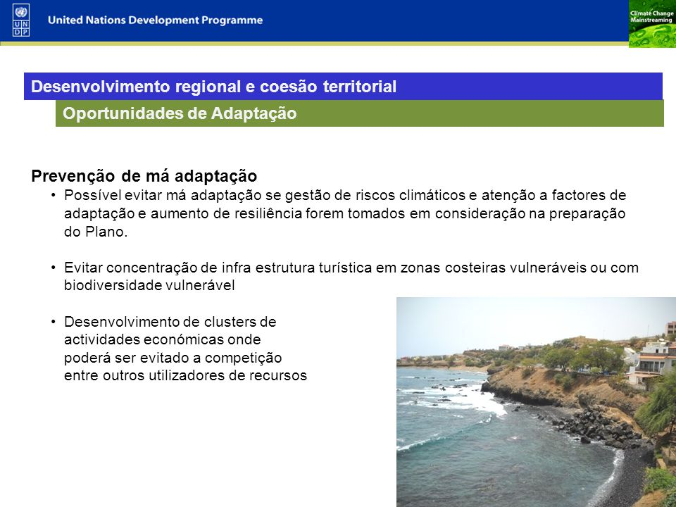 Desenvolvimento regional e coesão territorial